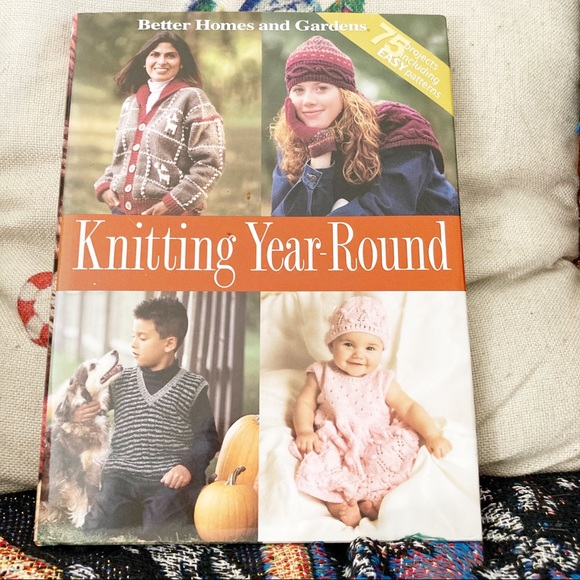 Knitting Year Round Hardcover Craft Pattern Book